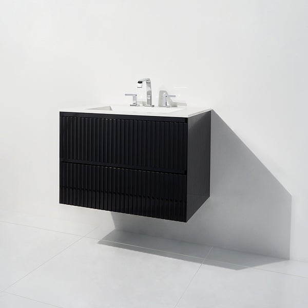 """Linear Collection 36"""" Vanity. Opens flyout."""