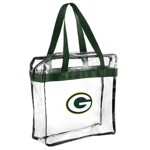 Forever Collectibles Licensed NFL Clear Tote Bags for Green Bay Packers