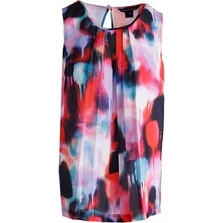 French Connection Womens Chiffon Printed Tank Top - 12