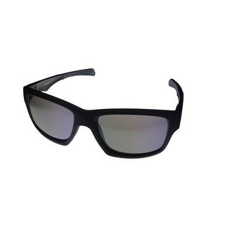 Timberland Mens Rectangle Matte Black Plastic Sunglass TB7122 2C - Medium