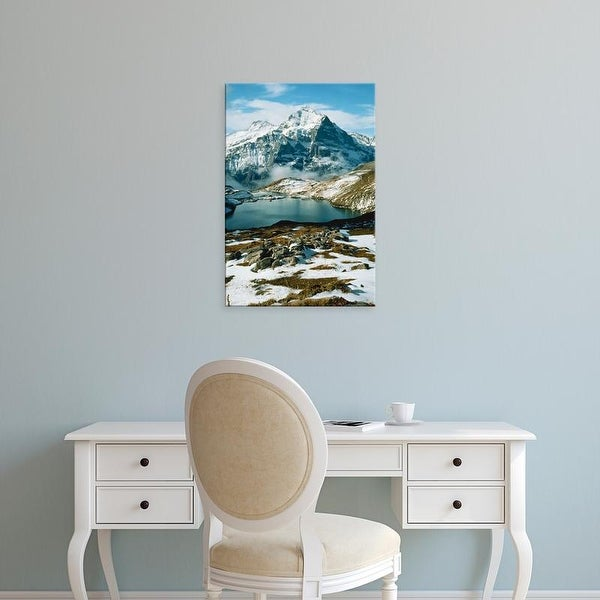 Easy Art Prints Scott T. Smith's 'View Of Wetterhorn Mountain And Bachsee Lake' Premium Canvas Art