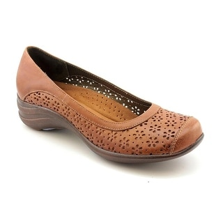 Hush Puppies Effy Women N/S Round Toe Leather Brown Flats