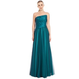 ML Monique Lhuillier Asymmetric Strapless Evening Gown Dress - 8