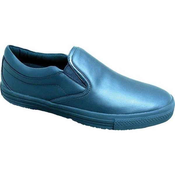 Shop Genuine Grip Footwear Women s Slip-Resistant Retro Slip-on Work Shoes  Black Leather - Free Shipping On Orders Over  45 - Overstock.com - 20223578 a5d9bb3fe9