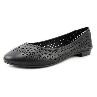 Vince Camuto Cristas Women Round Toe Leather Black Flats