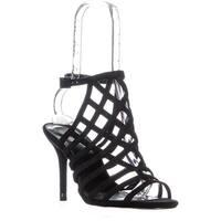 MICHAEL Michael Kors Trinity Sandal Open Toe Sandals, Black Suede