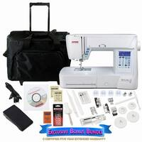 Janome Skyline S3 Computerized Sewing Machine with Exclusive Bonus Bundle