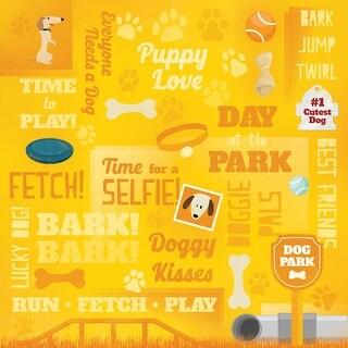"""Dog Paper 12""""X12""""-Puppy Love Collage"""