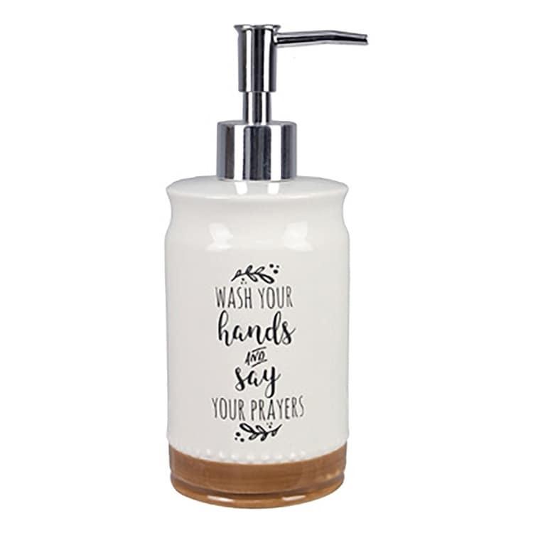 Ceramic Wash Your Hands Soap Dispenser Wash Overstock 31472095