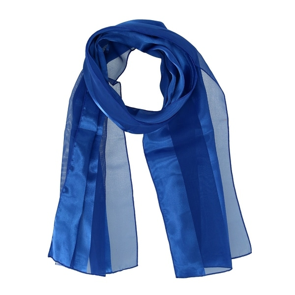 CTM® Women's Classic Long Solid Satin Scarf - one size. Opens flyout.