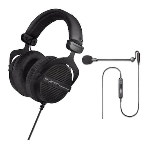 Beyerdynamic DT 990 PRO Studio Headphones (Ninja Black) w/ Microphone