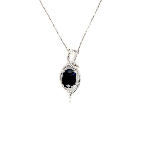 Kabella 14kt Solitaire Sapphire Single Diamond Pendant