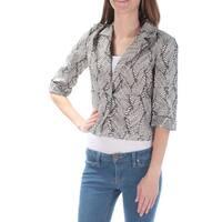 RACHEL ROY Womens Black Printed Blazer Jacket  Size: XS
