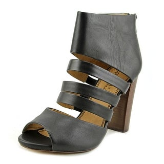Splendid Jackie Women Open Toe Leather Black Sandals