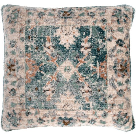 The Curated Nomad Lillia Distressed Traditional 21-inch Throw Pillow