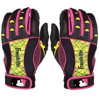 Franklin Insanity II Women's Batting Gloves - Black/Neon Pink/Optic Yellow