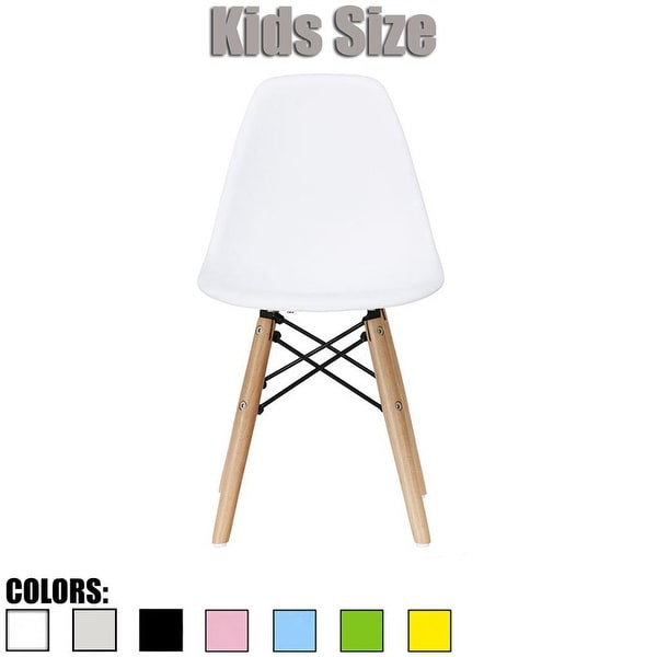 2xhome Modern Kids Chair Side No arm Armless Colors with Natural Wood Legs