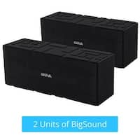 [2-Pack] Skiva BigSound Ultra-Portable Ultra-Loud 15W Outdoor Stereo Sound with 6 Hours of Playtime (3000mAh) for iPhone & more