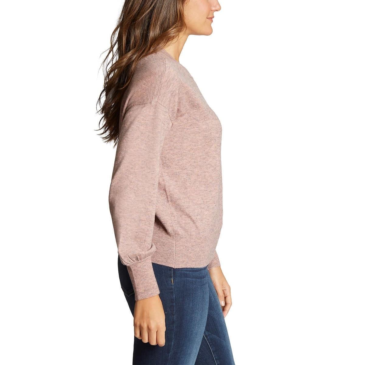 Ella Moss Womens Puff Sleeve Sweater