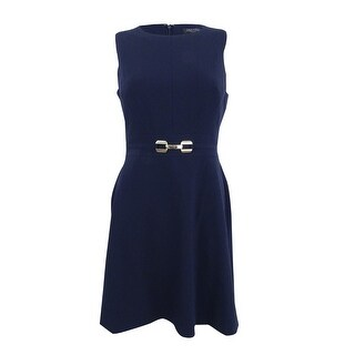 Tahari Women's Petite Fit & Flare Dress - Dark Navy