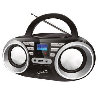 Supersonic Portable Audio System, MP3 & CDPlayer, Black