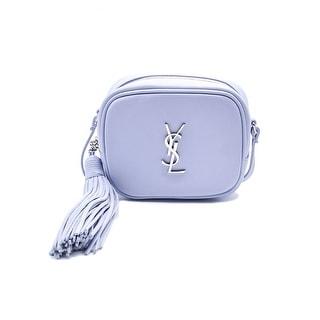 Saint Laurent Monogram Tassel Baby Blue Blogger Bag Satchel - Baby Blue