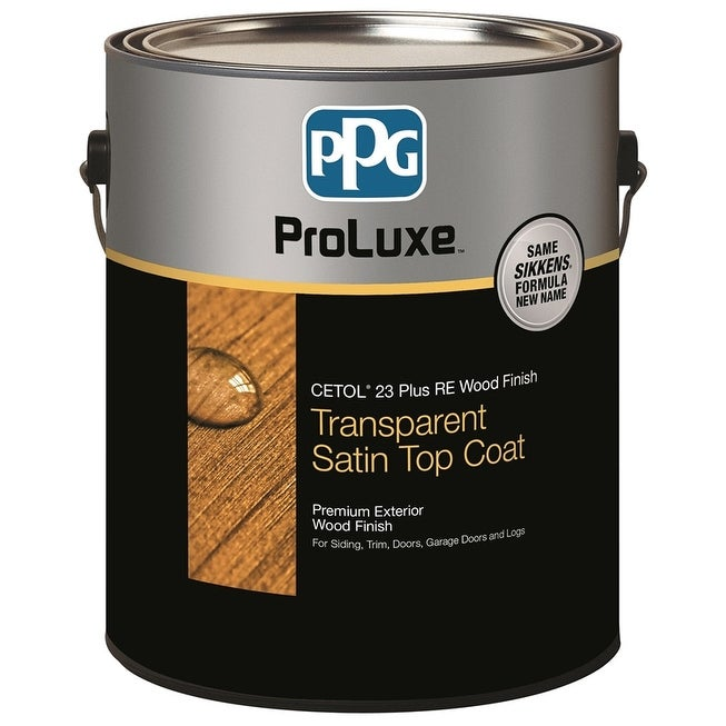 PPG SIK43078/01 ProLuxe Cetol 23 Plus RE Transparent Satin Wood Finish, Natural, Gal