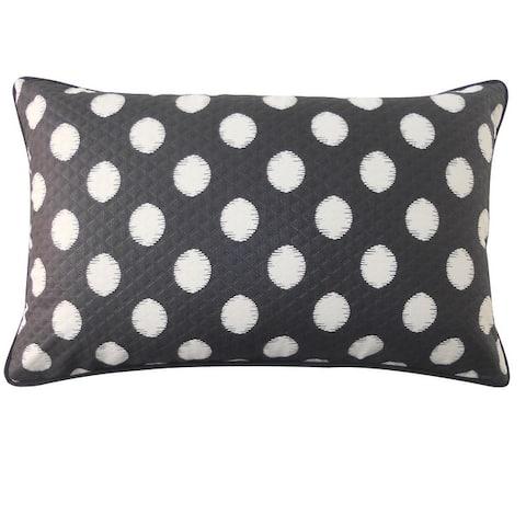 Jiti Dot Transitional Sunbrella Outdoor Pillows - 12 x 20