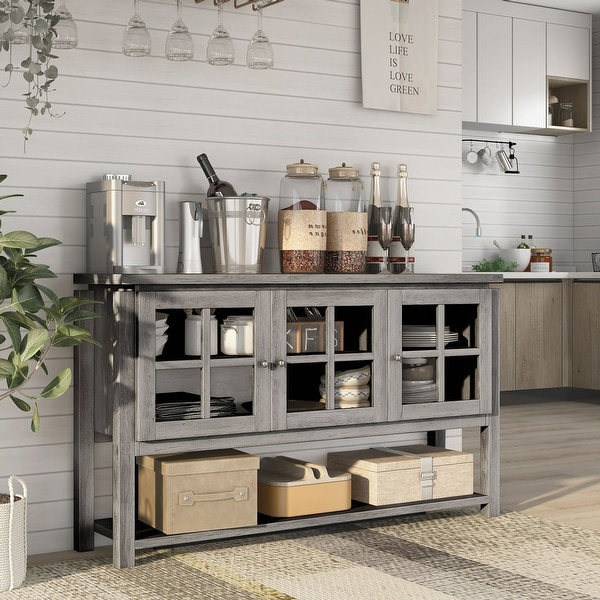 Furniture of America Wins Modern Farmhouse Buffet Table. Opens flyout.