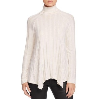 Bobeau Womens Pullover Sweater Ribbed Knit Heathered - m
