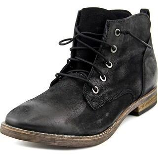 Diba Riya Women Round Toe Leather Black Chukka Boot