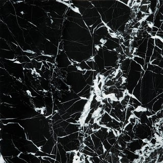 "Emser Tile M05BLAC1212 Marble - 12"" x 12"" Square Multi-Surface Tile - Polished M - Black / White - N/A"