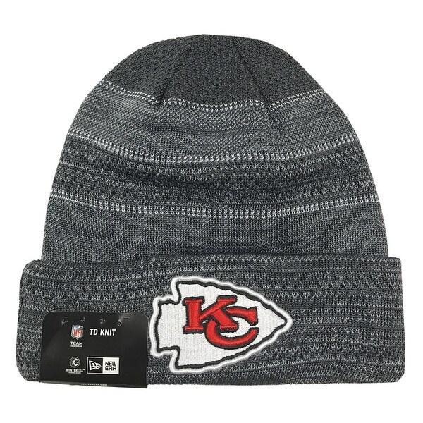 021fbc9e1b6935 Shop New Era Kansas City Chiefs Touchdown Knit Beanie Cap Hat NFL 2017 OTC  11460443 - Free Shipping On Orders Over $45 - Overstock - 17743781