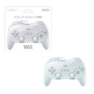 Nintendo White Wired Classic Controller Pro for Nintendo Wii (Japanese Version)