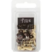 Metal Turn Mounts 50/Pkg-Antique