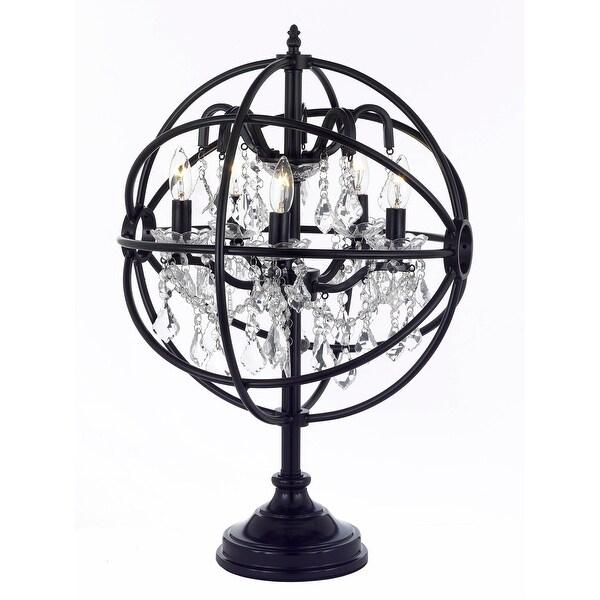 Foucaultu0026#x27;s Orb Crystal Iron 5 Light Table Lamp Modern Contemporary Lamp