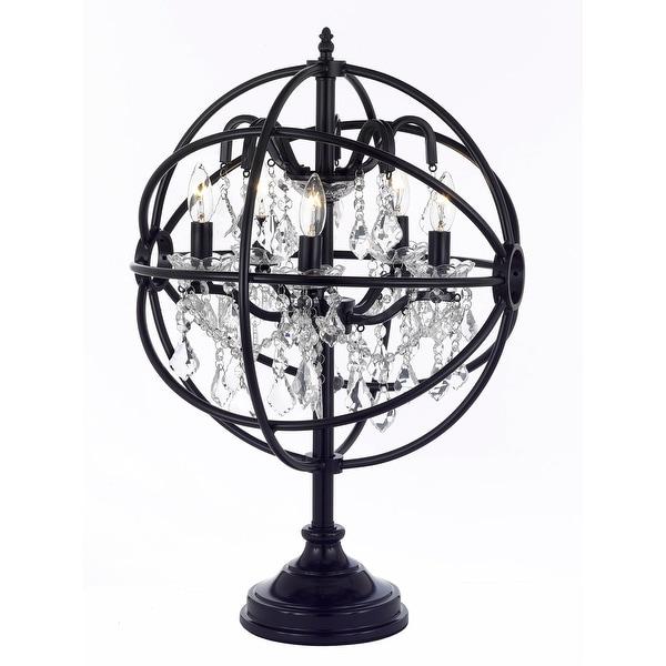 Delicieux Foucaultu0026#x27;s Orb Crystal Iron 5 Light Table Lamp Modern Contemporary Lamp