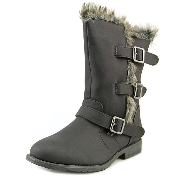 Kenneth Cole Reaction Allie Fur Black Boots