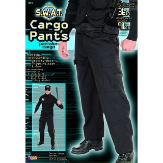 S.W.A.T. Costume Cargo Pants Adult One Size Fits Most