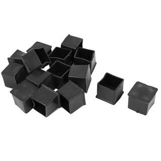 unique bargains 15pcs black rubber furniture table foot leg cover