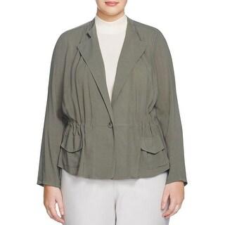 Nic + Zoe Womens Plus Jacket Crepe Long Sleeves