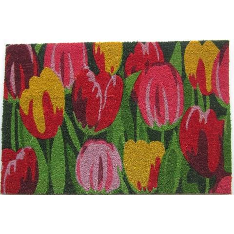 Tulips Outdoor DoorMat