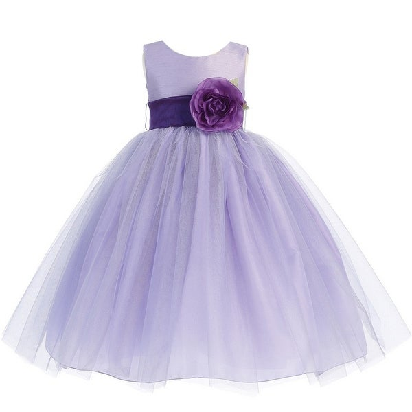 Shop girls lilac purple sash poly silk tulle flower girl dress 7 12 girls lilac purple sash poly silk tulle flower girl dress 7 12 mightylinksfo