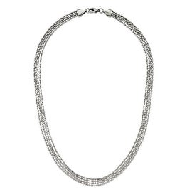 Chisel Stainless Steel Multichain 17in Necklace - 17 in