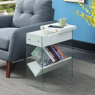 Link to Porch & Den Urqhuart Flip Top End Table with Charging Station Similar Items in Living Room Furniture