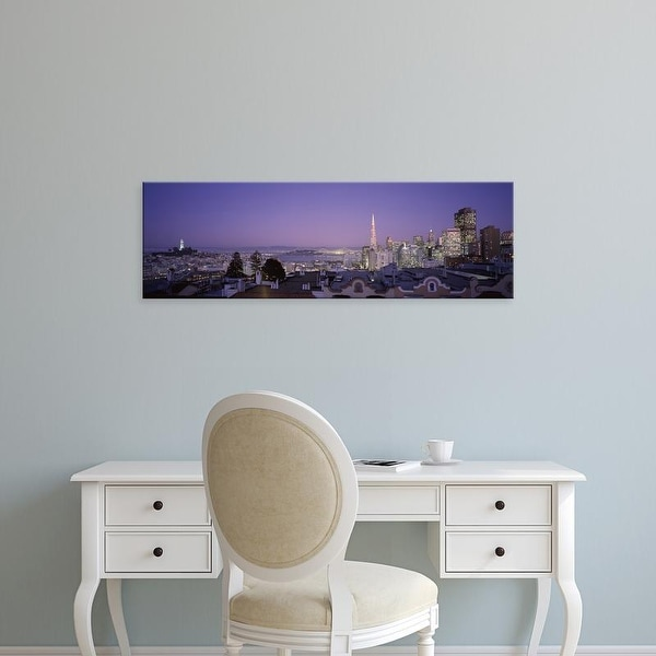 Easy Art Prints Panoramic Images's 'View of a cityscape from Nob Hill, San Francisco, California' Premium Canvas Art