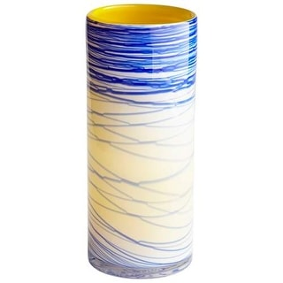 "Cyan Design 8795 Electric Wave 13"" Tall Glass Vase - Set of 2"