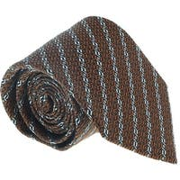 Ermenegildo Zegna Brown-Grey Chain Link Tie - 60-3