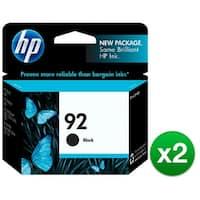 HP 92 Black Original Ink Cartridge (C9362WN) (2-Pack)