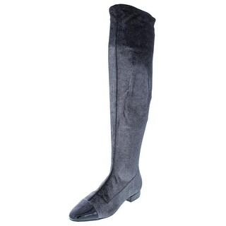 Ivanka Trump Womens Alie 2 Over-The-Knee Boots Metallic Patent Trim